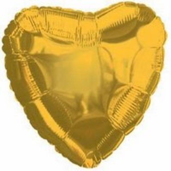 """Воздушные шары. Доставка в Москве: Шар-Сердце """"Золотое"""", 46 см Цены на https://sharsky.msk.ru/"""