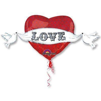 Большое сердце I LOVE YOU с крыльями, 81 см