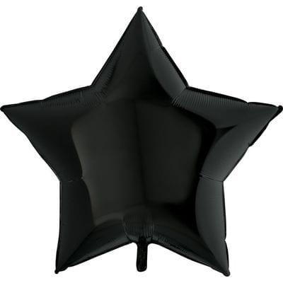 """Шар-Звезда """"Большая черная"""", 81 см"""