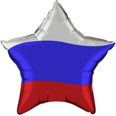 "Шар-Звезда ""Триколор"", 46 см"