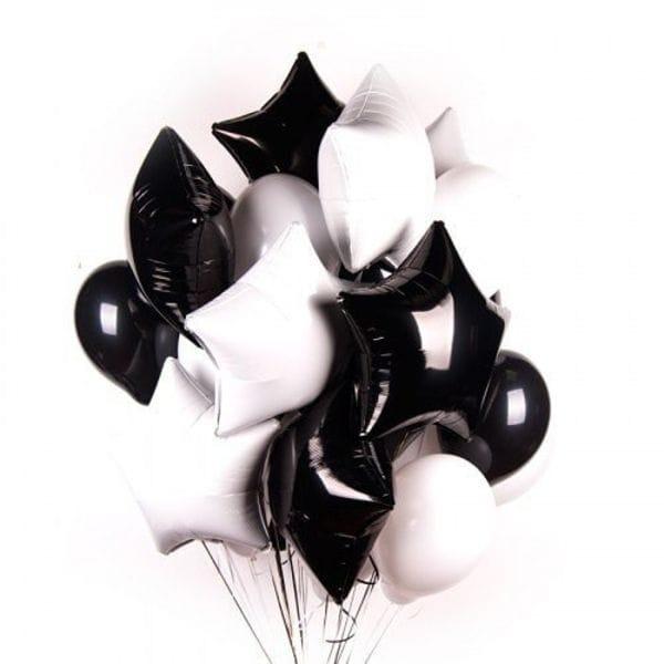Воздушные шары. Доставка в Москве: Черно-белый Фонтан шаров Цены на https://sharsky.msk.ru/