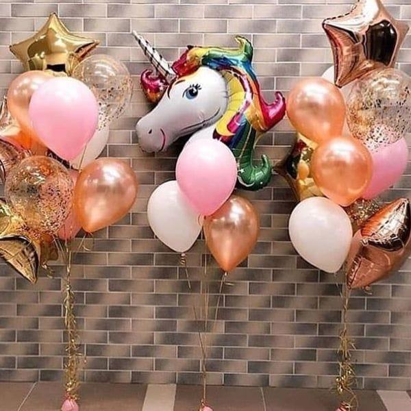 Воздушные шары. Доставка в Москве: Фонтаны из шаров с единорогом Цены на https://sharsky.msk.ru/