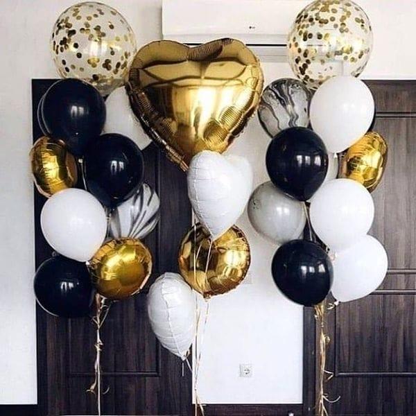 Воздушные шары. Доставка в Москве: 3 фонтана шаров с большим сердцем Цены на https://sharsky.msk.ru/