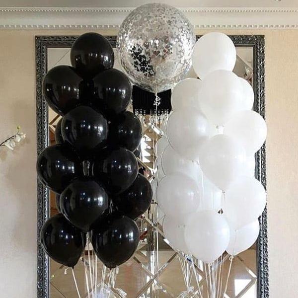 Воздушные шары. Доставка в Москве: Фонтан из 25-ти шариков и одного большого Цены на https://sharsky.msk.ru/