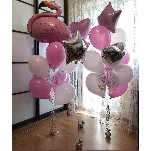 Воздушные шары. Доставка в Москве: Фонтаны шаров со Фламинго Цены на https://sharsky.msk.ru/