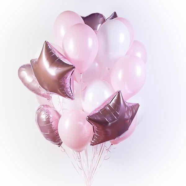 Воздушные шары. Доставка в Москве: Фонтан шаров для девочки Цены на https://sharsky.msk.ru/