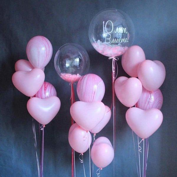 Воздушные шары. Доставка в Москве: Фонтан из розовых шаров Цены на https://sharsky.msk.ru/