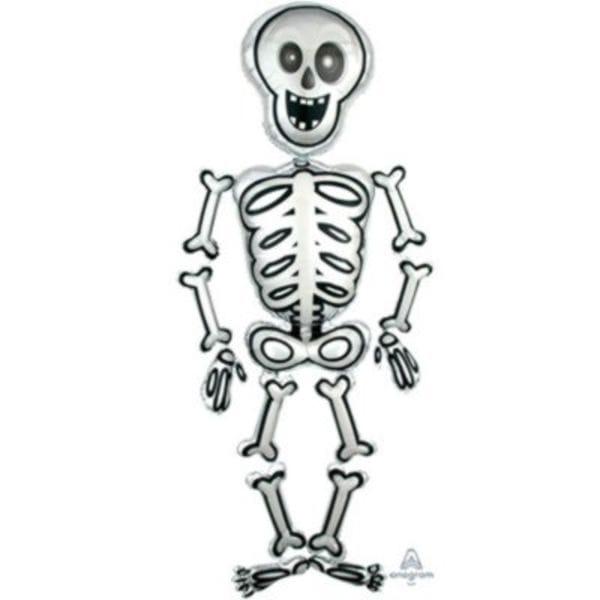 """Воздушные шары. Доставка в Москве: Ходячая фигура """"Скелет"""", 193 см Цены на https://sharsky.msk.ru/"""