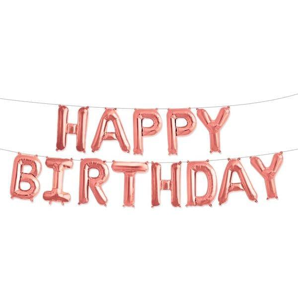 Воздушные шары. Доставка в Москве: Надпись Happy Birthday, розовая Цены на https://sharsky.msk.ru/