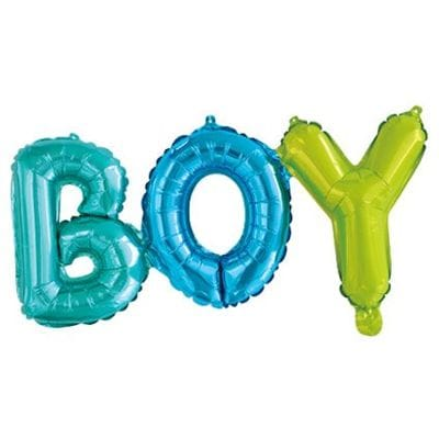 Надпись Boy разноцветная, 69 см