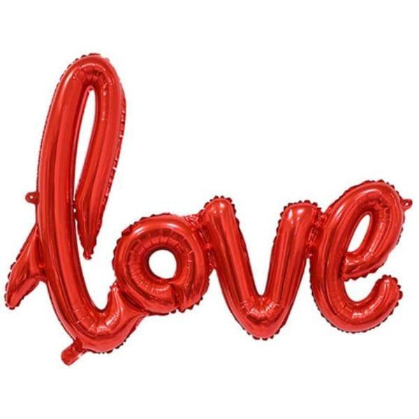 Воздушные шары. Доставка в Москве: Надпись Love Красная, 76х58 см Цены на https://sharsky.msk.ru/