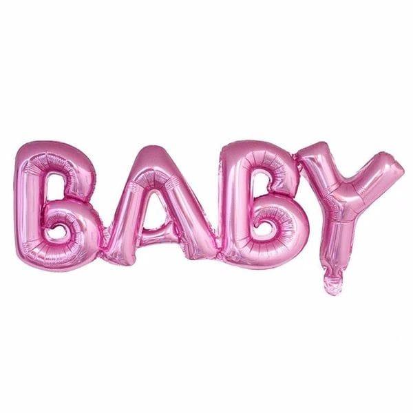 Воздушные шары. Доставка в Москве: Надпись Baby Розовая, 81 см Цены на https://sharsky.msk.ru/