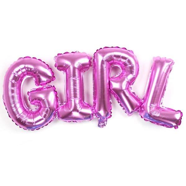 Воздушные шары. Доставка в Москве: Надпись Girl розовая, 109 см Цены на https://sharsky.msk.ru/