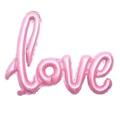Надпись Love Розовая, 76х58 см