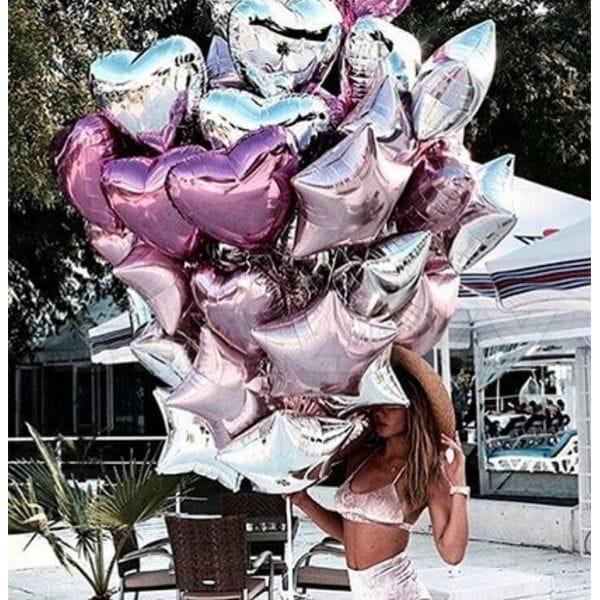 Воздушные шары. Доставка в Москве: Букет из шаров сердец и звезд Цены на https://sharsky.msk.ru/