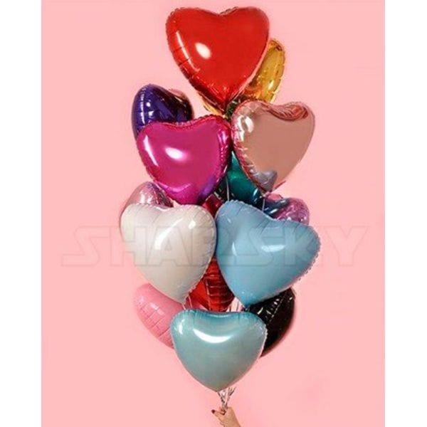 Воздушные шары. Доставка в Москве: 15 фольгированных сердец, 46 см Цены на https://sharsky.msk.ru/