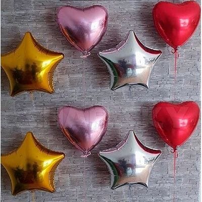 4 сердца, 46 см; 4 звезды, 46 см