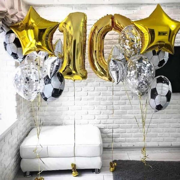 Воздушные шары. Доставка в Москве: Шары на День Рождения ребенку 10 лет Цены на https://sharsky.msk.ru/