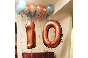 Букет шариков на 10 лет