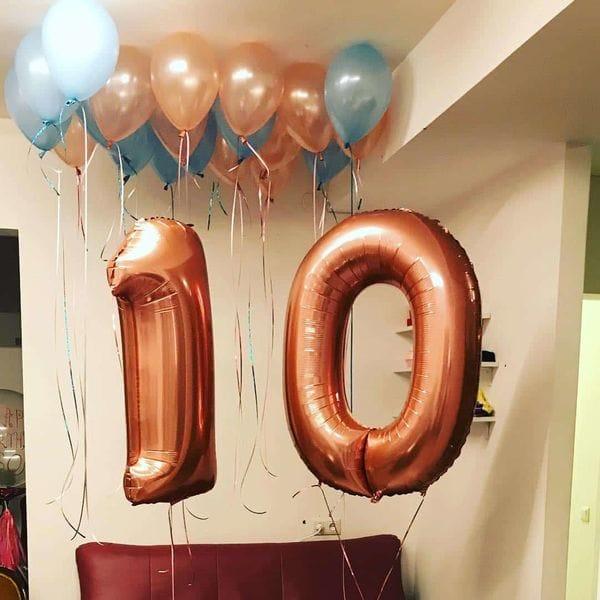 Воздушные шары. Доставка в Москве: Букет шариков на 10 лет Цены на https://sharsky.msk.ru/
