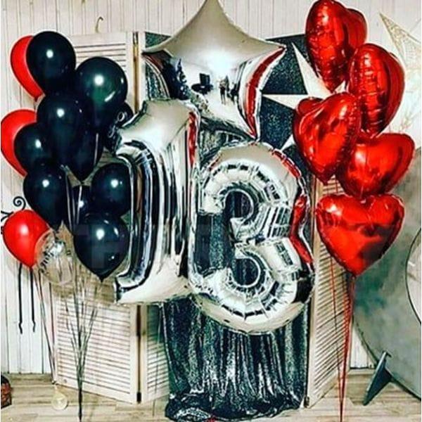 Воздушные шары. Доставка в Москве: Шарики на День Рождения ребенку 13 лет Цены на https://sharsky.msk.ru/
