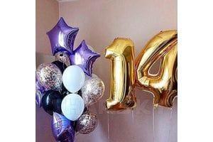 Шарики на День Рождения ребенку 14 лет