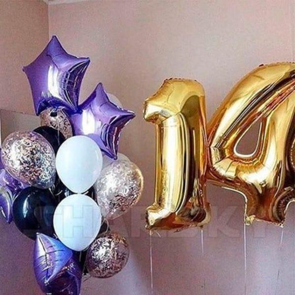 Воздушные шары. Доставка в Москве: Шарики на День Рождения ребенку 14 лет Цены на https://sharsky.msk.ru/