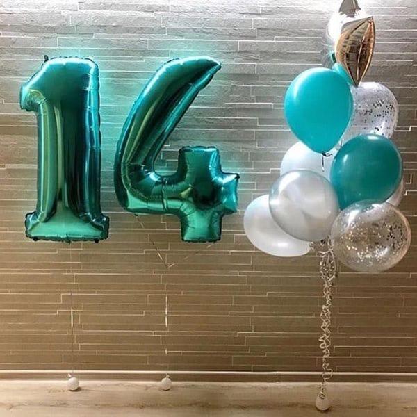 Воздушные шары. Доставка в Москве: Шары на День Рождения ребенку 14 лет Цены на https://sharsky.msk.ru/