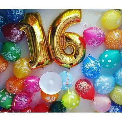 Гелевые шары 16 лет