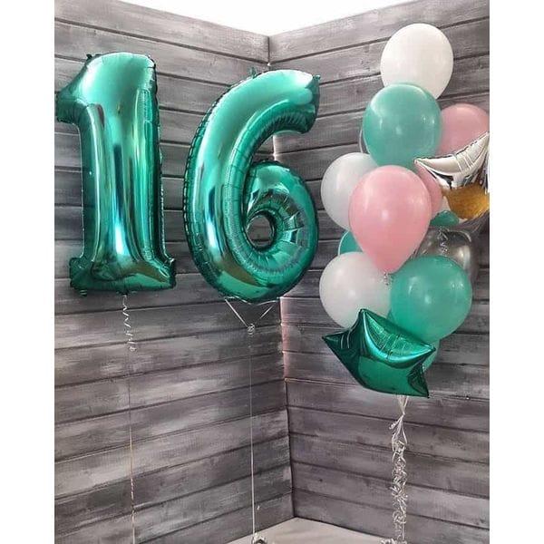 Воздушные шары. Доставка в Москве: Шары на День Рождения 16 лет Цены на https://sharsky.msk.ru/