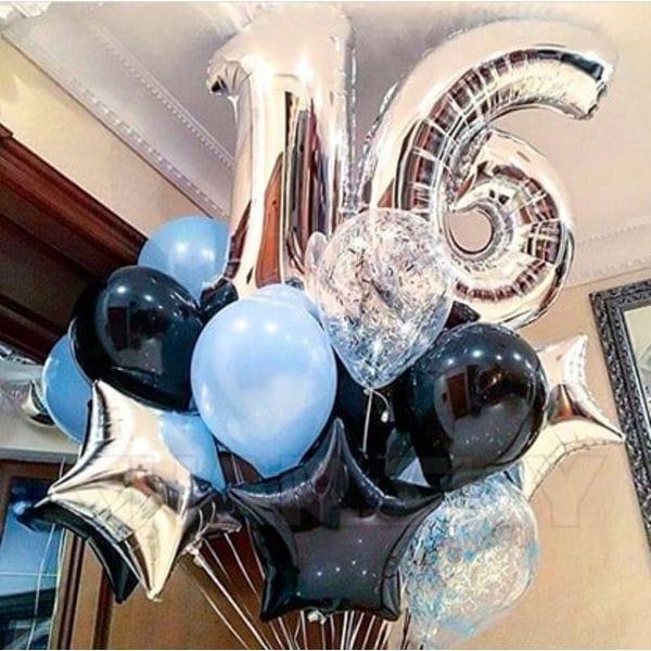 Воздушные шары. Доставка в Москве: Шары на 16 лет парню Цены на https://sharsky.msk.ru/