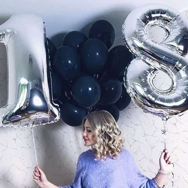 Воздушные шары. Доставка в Москве: Шары на День Рождения 18 лет Цены на https://sharsky.msk.ru/