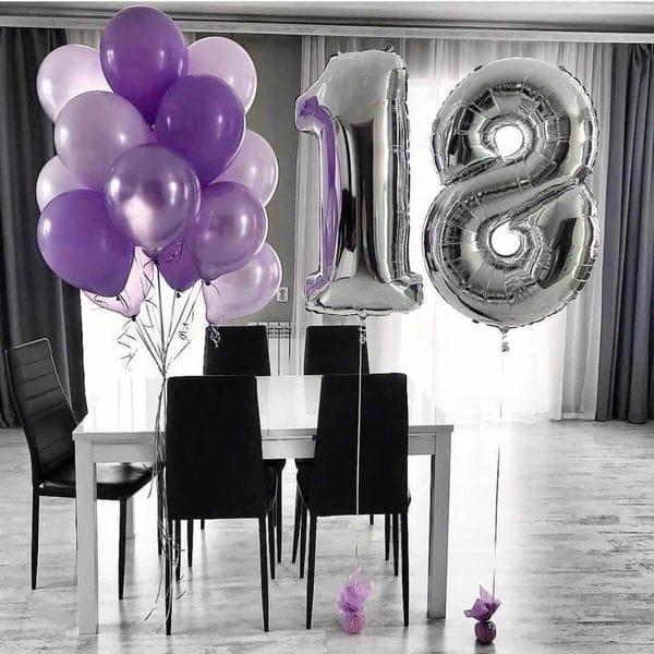 Воздушные шары. Доставка в Москве: Воздушные шарики на 18 лет Цены на https://sharsky.msk.ru/