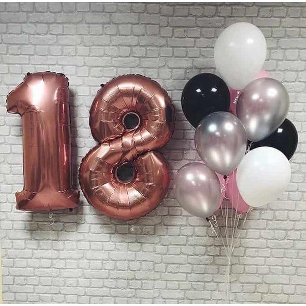 Воздушные шары. Доставка в Москве: Шары на 18 лет девушке Цены на https://sharsky.msk.ru/