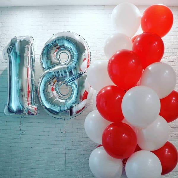 Воздушные шары. Доставка в Москве: Шарики на День Рождения 18 лет девушке Цены на https://sharsky.msk.ru/