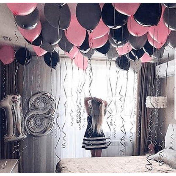Воздушные шары. Доставка в Москве: Воздушные шары на 18 лет Цены на https://sharsky.msk.ru/