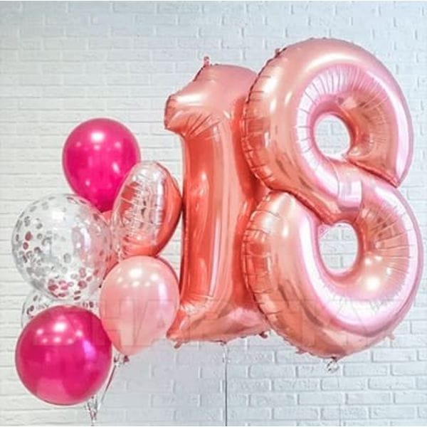 Воздушные шары. Доставка в Москве: Шарики на День Рождения 18 лет Цены на https://sharsky.msk.ru/