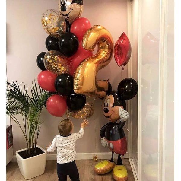 Воздушные шары. Доставка в Москве: Букет из шаров на 2 года с Микки Маусом Цены на https://sharsky.msk.ru/