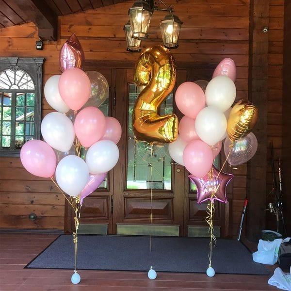 Воздушные шары. Доставка в Москве: Фонтаны из шаров на 2 года девочке Цены на https://sharsky.msk.ru/