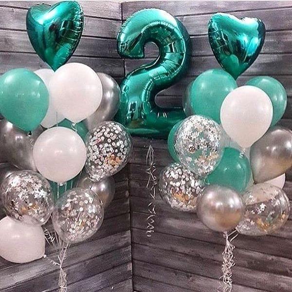 Воздушные шары. Доставка в Москве: Композиция из шариков на 2 года Цены на https://sharsky.msk.ru/