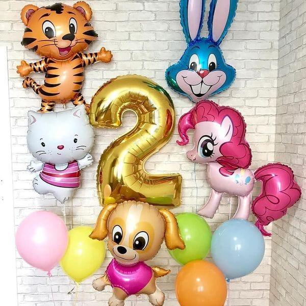 Воздушные шары. Доставка в Москве: Набор шаров на 2 года Цены на https://sharsky.msk.ru/