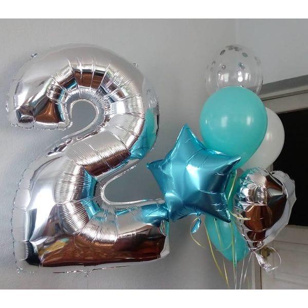 Воздушные шары. Доставка в Москве: Букет шаров на 2 года Цены на https://sharsky.msk.ru/