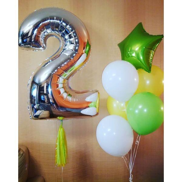 Воздушные шары. Доставка в Москве: Шарики на День Рождения 2 года Цены на https://sharsky.msk.ru/