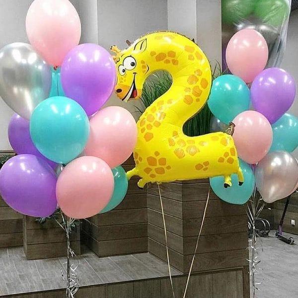 Воздушные шары. Доставка в Москве: Шарики ребенку на 2 года Цены на https://sharsky.msk.ru/