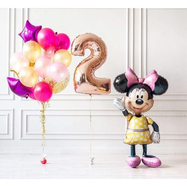 Воздушные шары. Доставка в Москве: Шары на 2 года с Минни Маус Цены на https://sharsky.msk.ru/