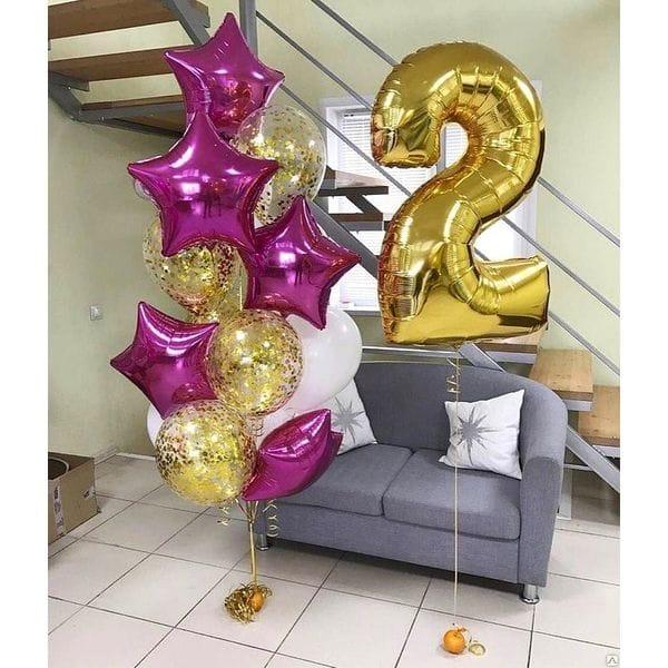 Воздушные шары. Доставка в Москве: Шары на 2 года девочке Цены на https://sharsky.msk.ru/