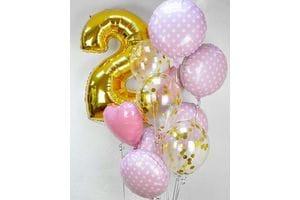 Воздушные шарики на День Рождения 2 года