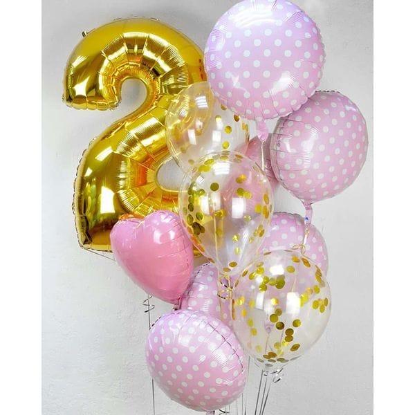 Воздушные шары. Доставка в Москве: Воздушные шарики на День Рождения 2 года Цены на https://sharsky.msk.ru/