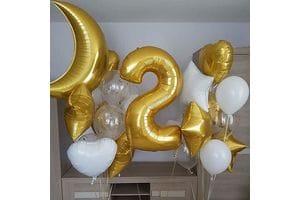 Букет шаров ребенку на День Рождения на 2 года