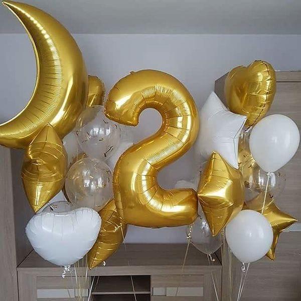 Воздушные шары. Доставка в Москве: Букет шаров ребенку на День Рождения на 2 года Цены на https://sharsky.msk.ru/